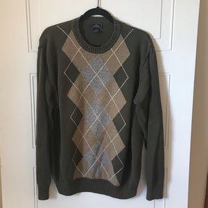 Dockers Crewneck Argyle Sweater Size L